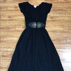 Anthropologie Puella Black maxi dress